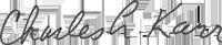 Signature of Dean Karr